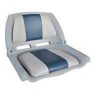 Сидение складное серое с подушками серо-голубого цвета