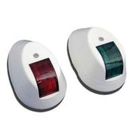 Комплект бортовых навигационных огней в белом пластиковом корпусе (м)