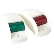 Комплект бортовых навигационных огней в белом пласт. корпусе (светодиоды) (б)