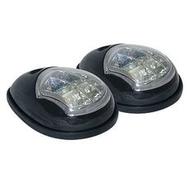 Комплект бортовых навигационных огней в чёрном пластиковом корпусе (светодиоды)