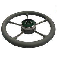 Рулевое колесо 400 мм. диаметр (серое)