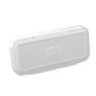 Крышка магнитолы брызгозащитная (белая) 111х235 мм