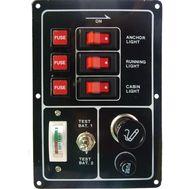 Панель электрическая с тремя переключателями и прикуривателем