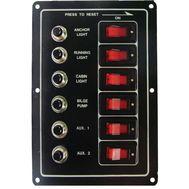 Панель электрическаяая с шестью переключателями (тип 1)