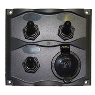 Панель электрическая брызгозащищённая с 3 перекл и розеткой