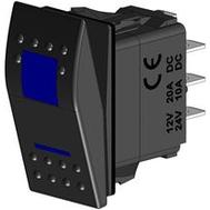 Кнопка включения трёхпозиционная синяя (ВКЛ-ВЫКЛ-ВКЛ)