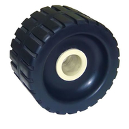 Боковой ролик для трейлера с концевой втулкой из нейлона (ширина 125 мм, высота 76 мм Д.о 28 мм)