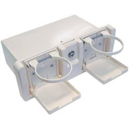Ящик перчаточный пластиковый с двумя подстаканниками
