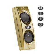 Панель выключателей 2шт золото