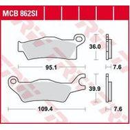 Колодки тормозные (серия Sinter Offroad) MCB862SI