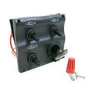 Панель переключателей 3шт с предохранителями постоянного тока