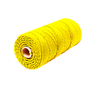 Шнур плетеный СТАНДАРТ 1,8 мм (500 м) желтый, бобина