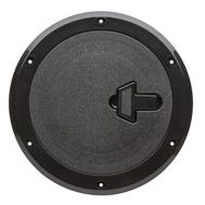 Люк инспекционный с замком диаметр 185х265 мм чёрн