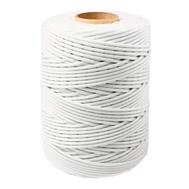 Шнур плетеный СТАНДАРТ 2,5 мм (500 м) белый, евробобина