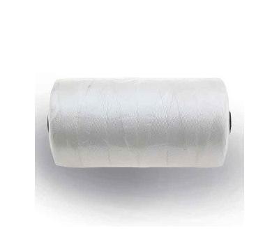 Нитка капроновая - 0,8мм (тройник) белая (1кг) - фото