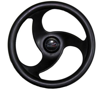 Рулевое колесо (LM-W-10) 280 мм. диаметр (чёрное) - фото