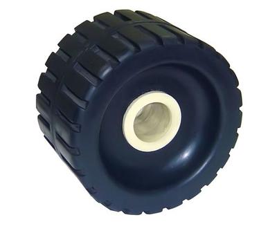 Боковой ролик для трейлера с концевой втулкой из нейлона (ширина 125 мм, высота 76 мм Д.о 28 мм) - фото