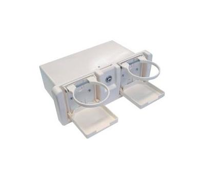 Ящик перчаточный пластиковый с двумя подстаканниками - фото