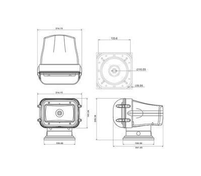 Прожектор стационарный ксеноновый проводной пульт ДУ, серия 970 - фото 3