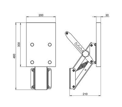Транец выносной для ПЛМ мощностью до 15 л.с. (45 кг) ФБС - фото 3