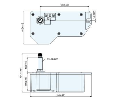 """Электропривод стеклоочистителя 12В, 2"""", 83-120грд, водозащищенный. - фото 2"""