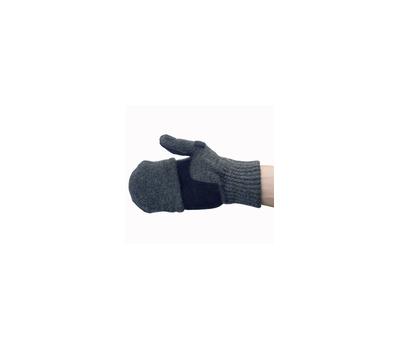 Перчатки с открывающимися пальцами(темно-серые) - фото 3