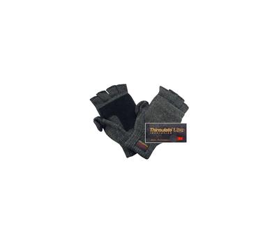 Перчатки с открывающимися пальцами(темно-серые) - фото